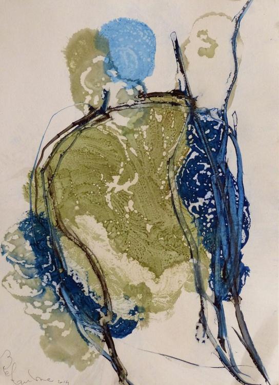Prolegomena, Acrylic on paper #44, 29x42 cm - Image 0