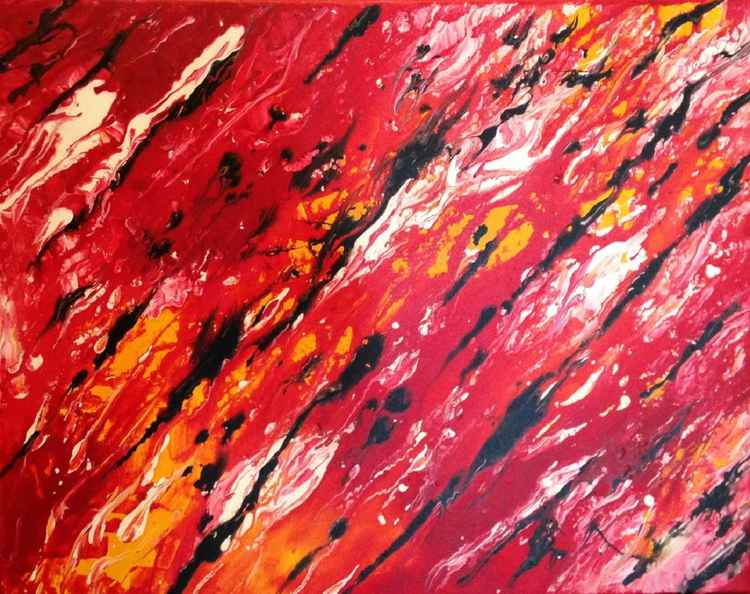 Red abstract -
