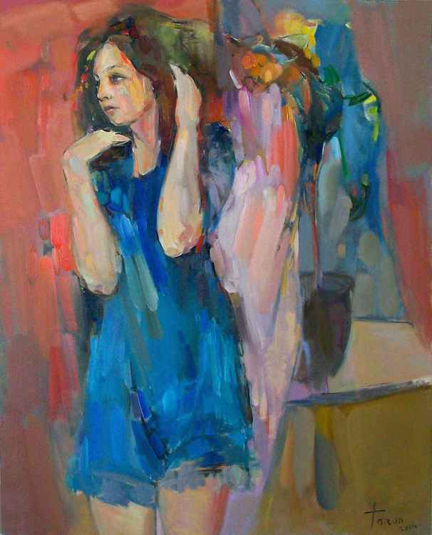 The girl in blue -