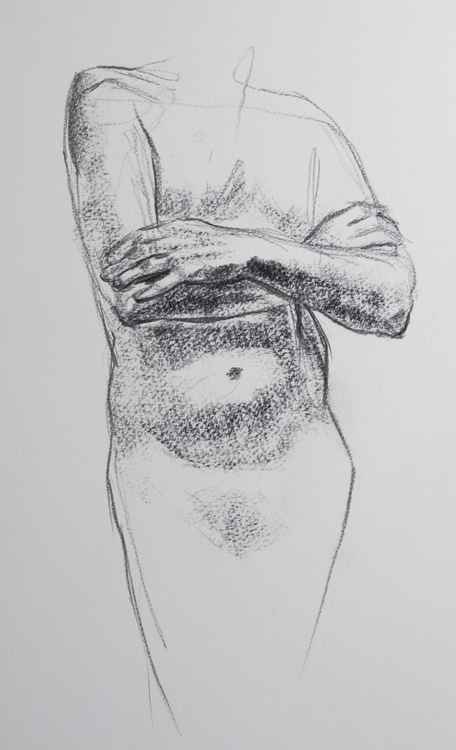 standing male nude -