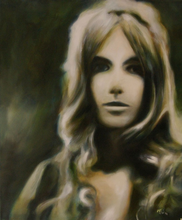 Faded Memories - Photo Realistic Portrait Original One of a Kind Oil Painting - Image 0