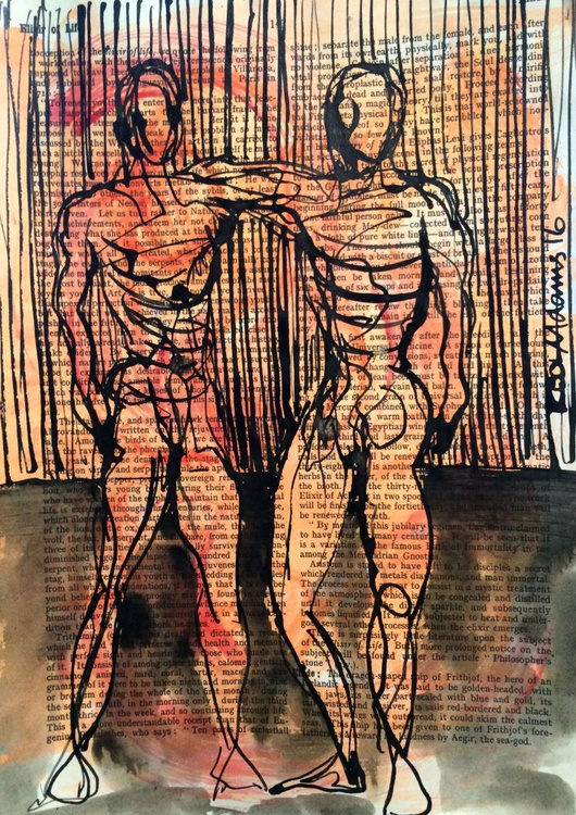 Two Male Figures - Image 0