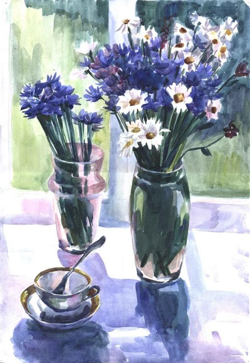 Cornflowers and chamomile - Image 0