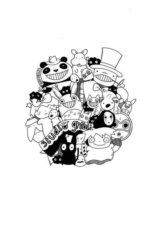 Studio Ghibli/Totoro A4 Art Print