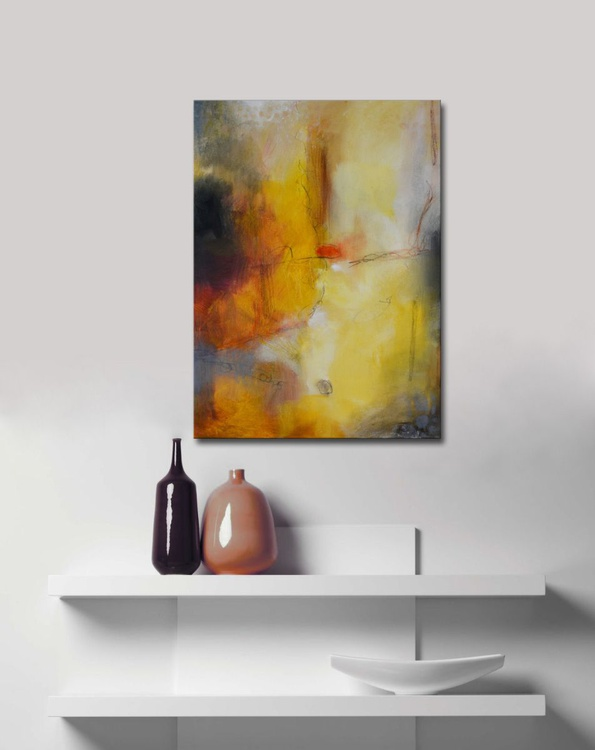 Dream Catcher VIII - Gold Abstract Painting - Image 0