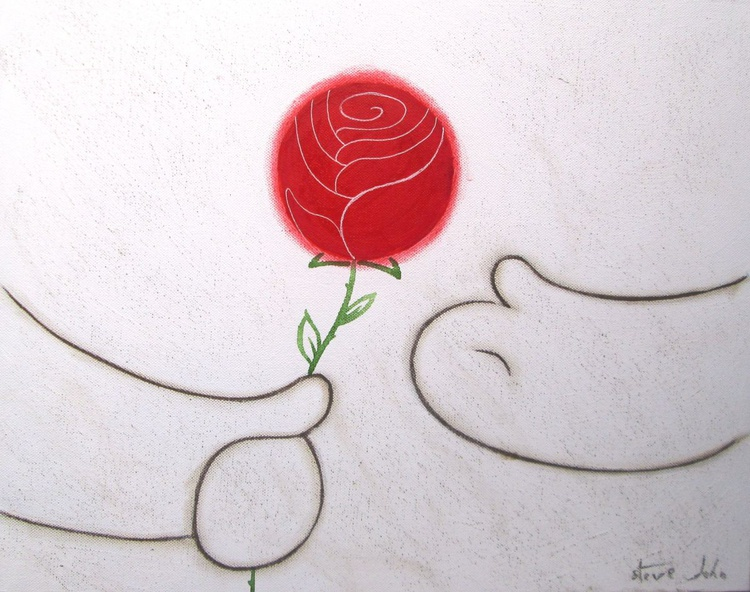 Hugs Art: A Single Rose - Image 0