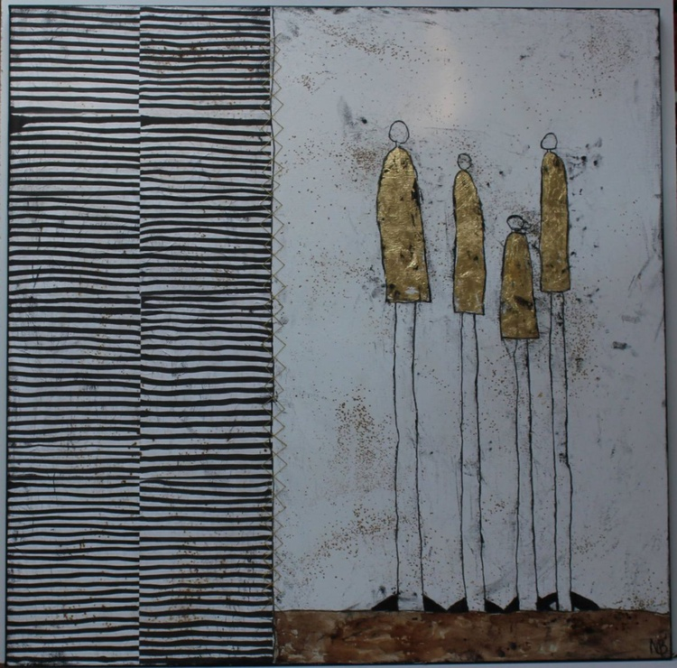 Four Golden Annas with Stripes - Image 0