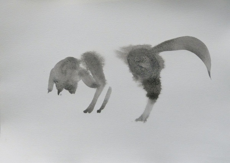 The Fox, ink drawing 29x42 cm - Image 0