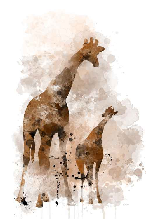 Giraffe and Calf -