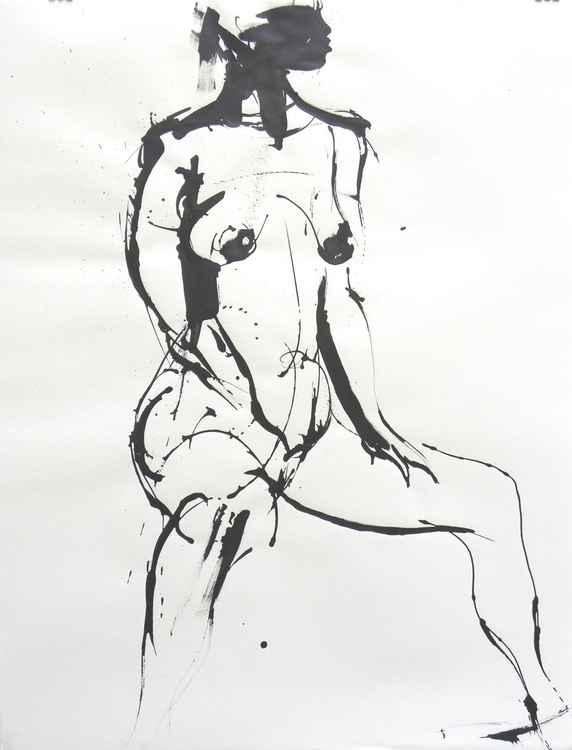 Drawing  # 006  Sitting girl