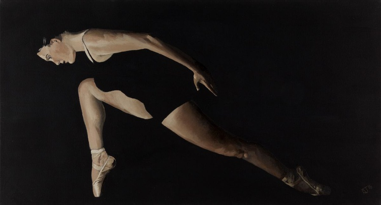 Dancer in the Dark Vol 3 , Contemporary Ballerina Painting - Image 0