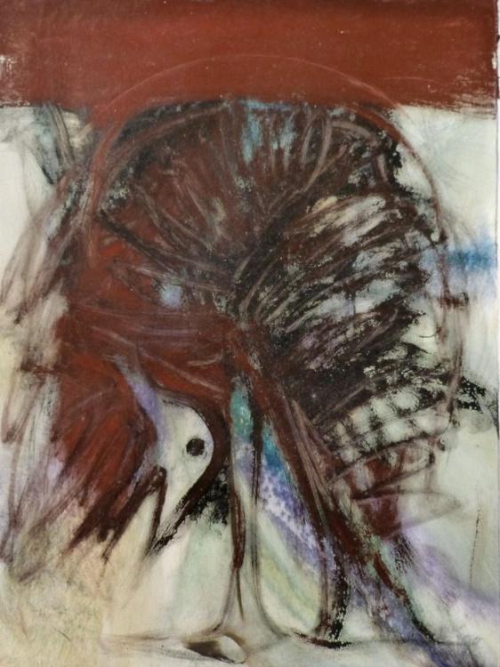 Surrealist Bird, oil on canvas 60x80 cm - Image 0