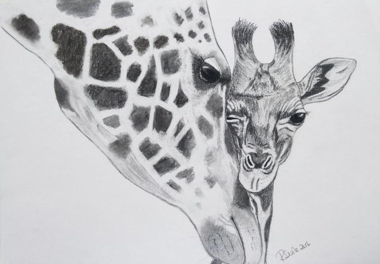 Giraffe mum and baby - Image 0
