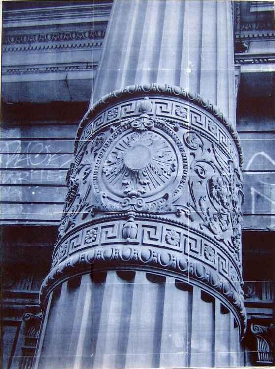 ' blue column '