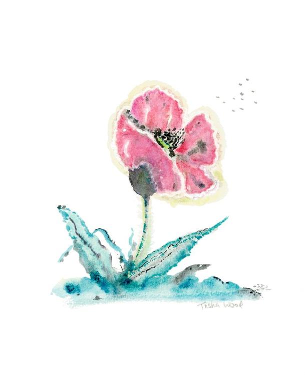'japanese style' lonely poppy - Image 0