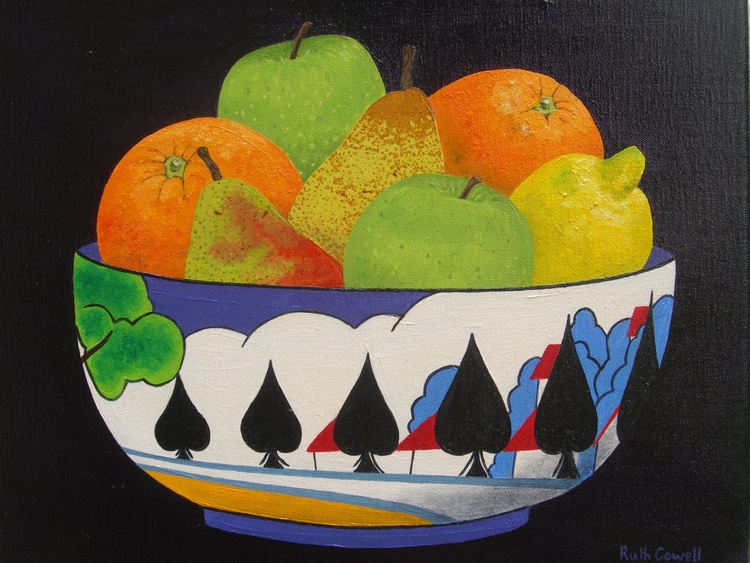 A Clarice Cliff Bowl of Fruit - Image 0