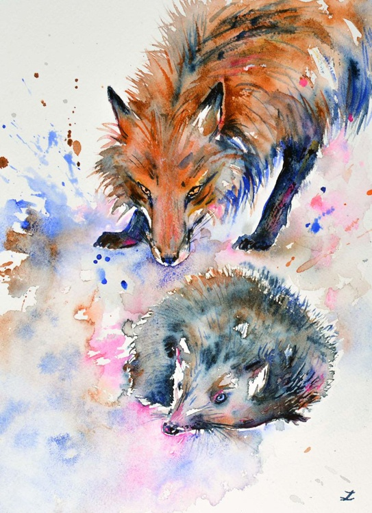 Hedgehog and Fox - Image 0