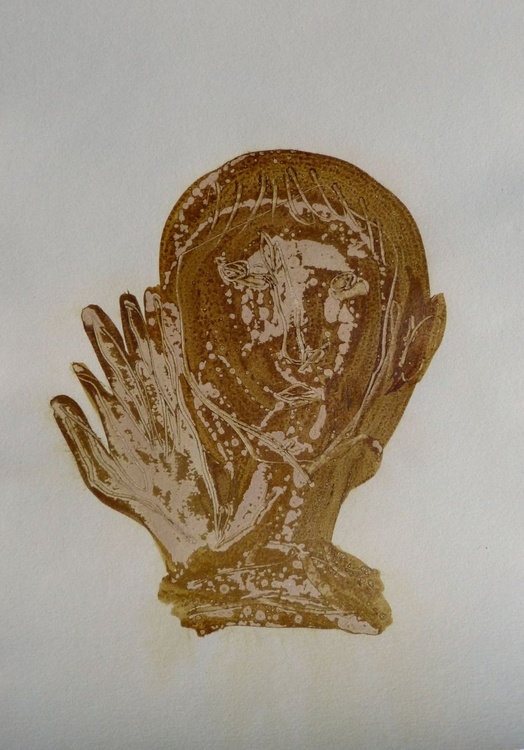 Brown Heads 5, 21x29 cm - Image 0