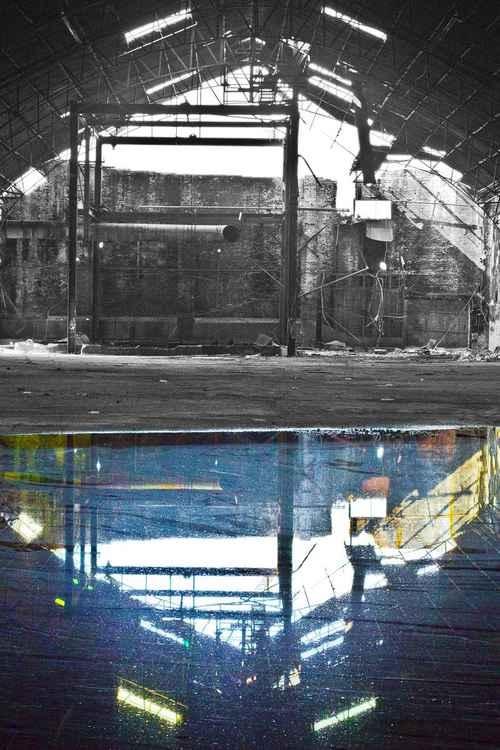 REFLECTIVE RUIN - C Type Fuji Lustre Print 16 x 24 -