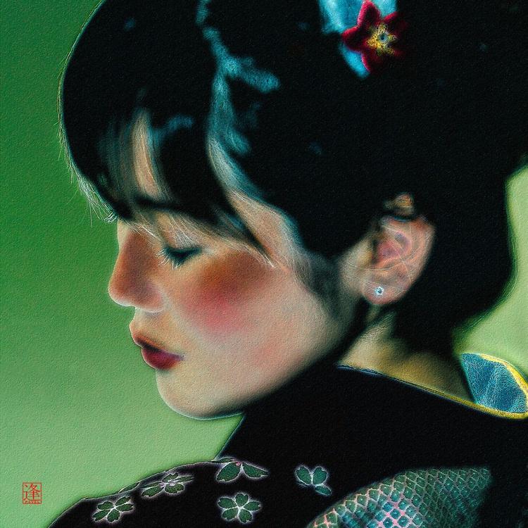 Girl From Miyazaki - Monoprint - Image 0