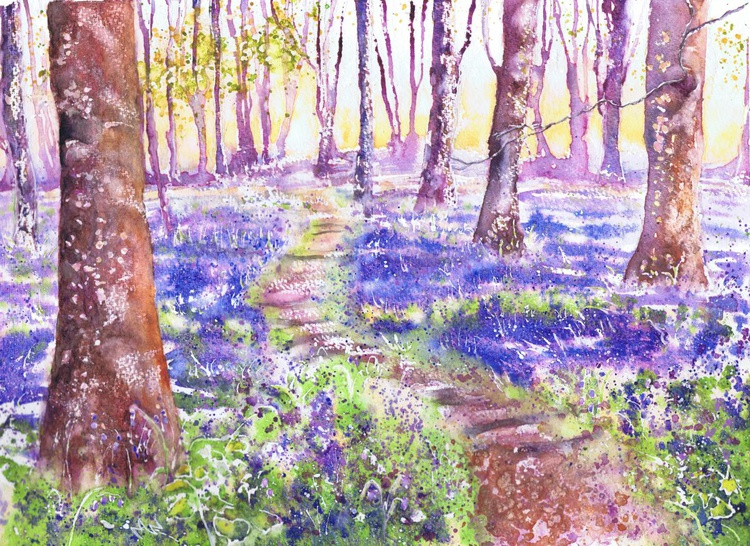 Bluebells at Badbury - Image 0