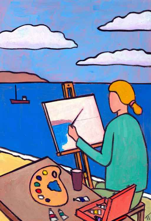 Painting the bay. -