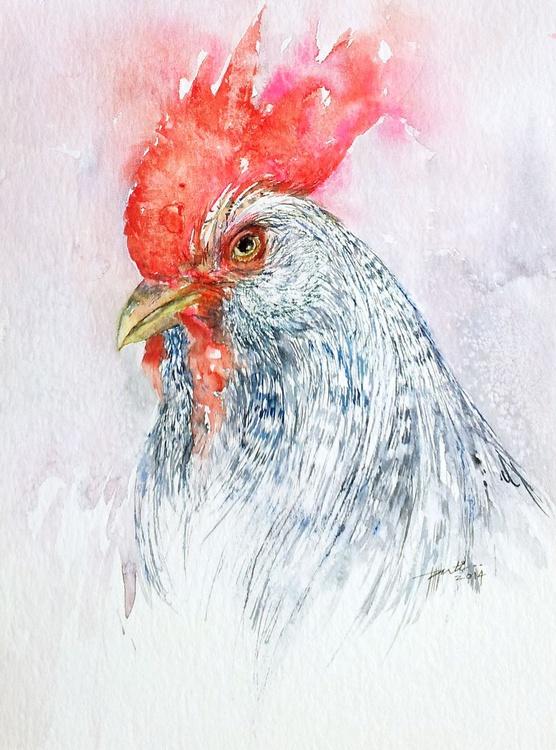 Speckled Rooster Portrait - Image 0