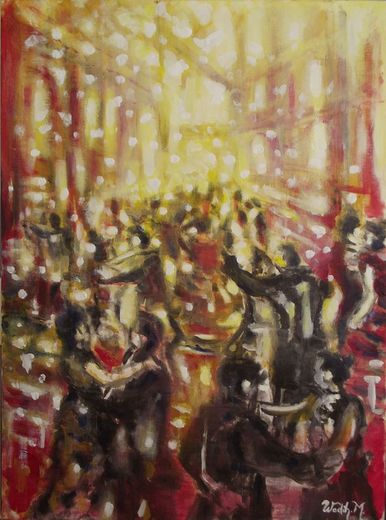 BALLROOM FIESTA - Expressionism - Modern Painting - 70x50 cm - Image 0