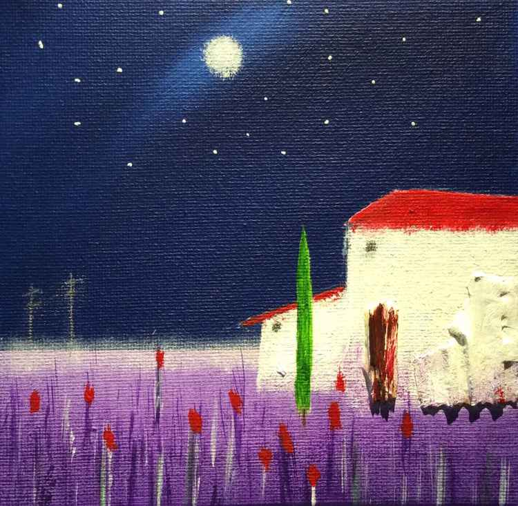 """ Midnight in Provence "" ( miniature size)"