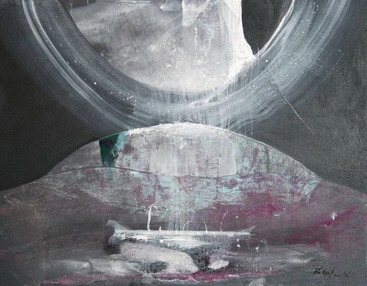 ABOUT ETERNITY COSMIC MINDSCAPE WORM LIGHT DELIRIOUS DREAMSCAPE AFORDABLE MASTERPIECE BY MASTER OVIDIU KLOSKA - Image 0