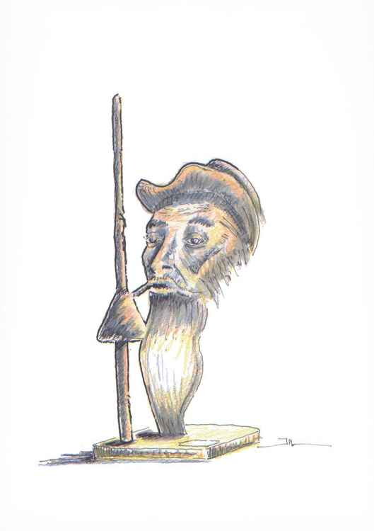 Don Quichotte (sketch of sculpture)