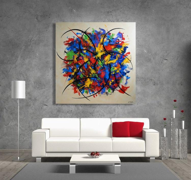 The Bouquet   (140x140 cm) - Image 0
