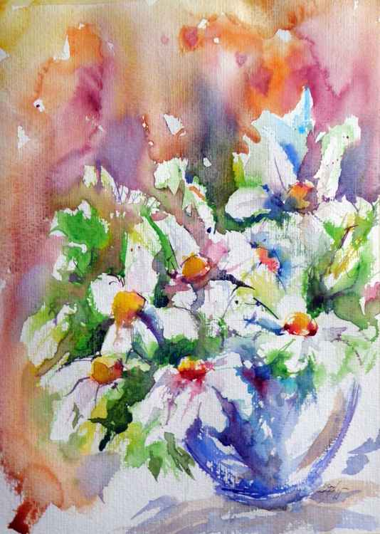 Still life with white flowers V -