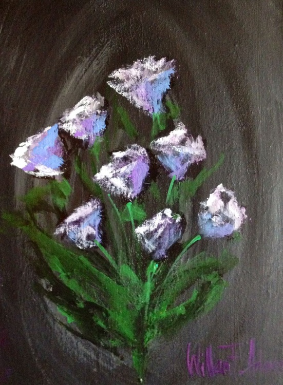 A Lavender and Grey Bouquet - Abstract - Image 0