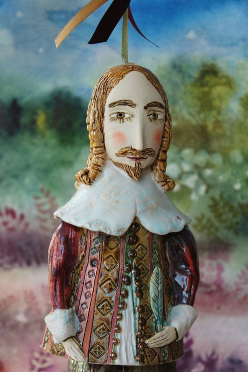 William the Author. From Midsummer Night's Dream Ceramic illustration project by Elya Yalonetski - Image 0