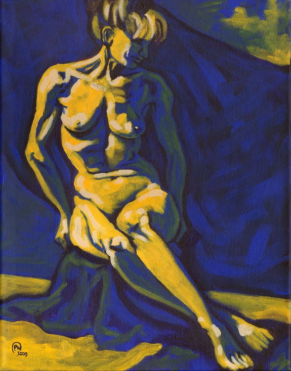 Figure in Yellow and Blue #2 - Image 0