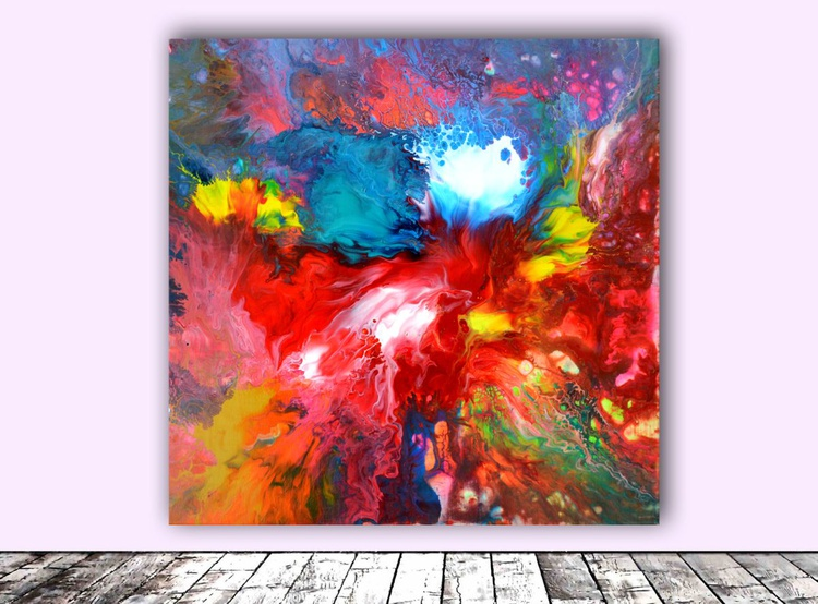 Blushing - Abstract Painting - Ready to Hang, Hotel and Restaurant Wall Decoration - Image 0