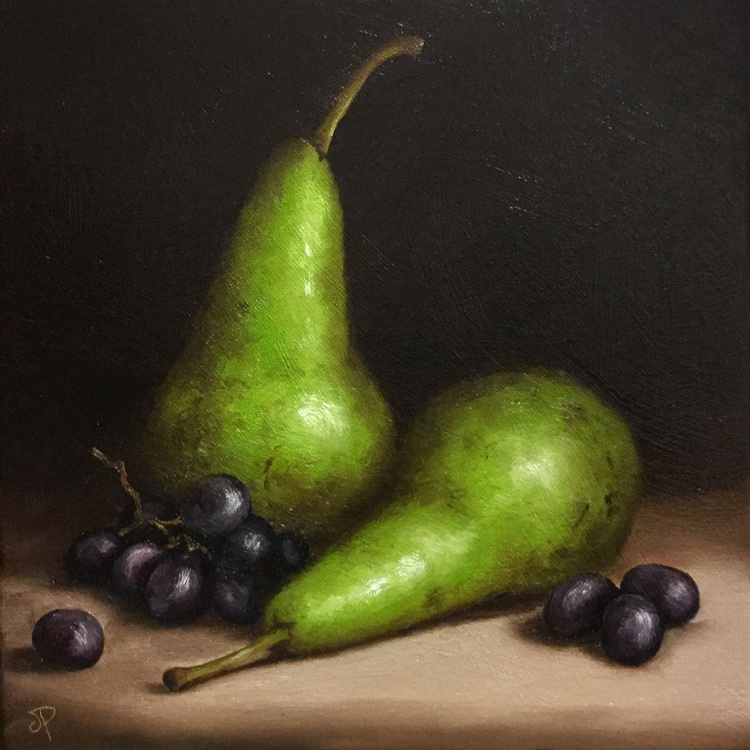Pears with Grapes - Image 0