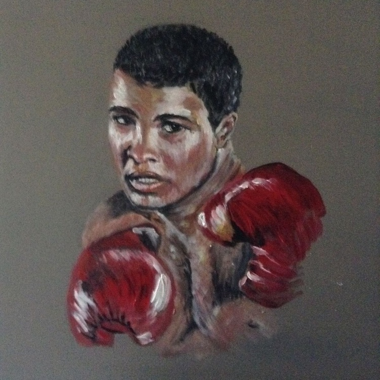 """The Greatest"" Mohamed Ali, 24 x24 inch  acrylic on box canvas - Image 0"