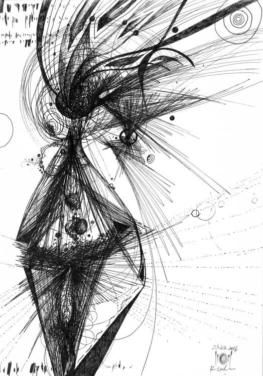 Vibration energy lines still life like universe expanding eclectic oniric art signed by master Ovidiu Kloska - Image 0