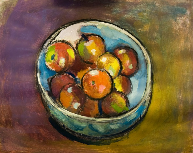 Fruit Bowl with Apples and Orange - Image 0