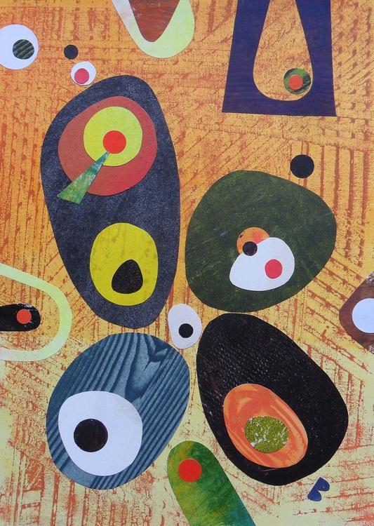 Abstraction (Orange & Grey) - Image 0
