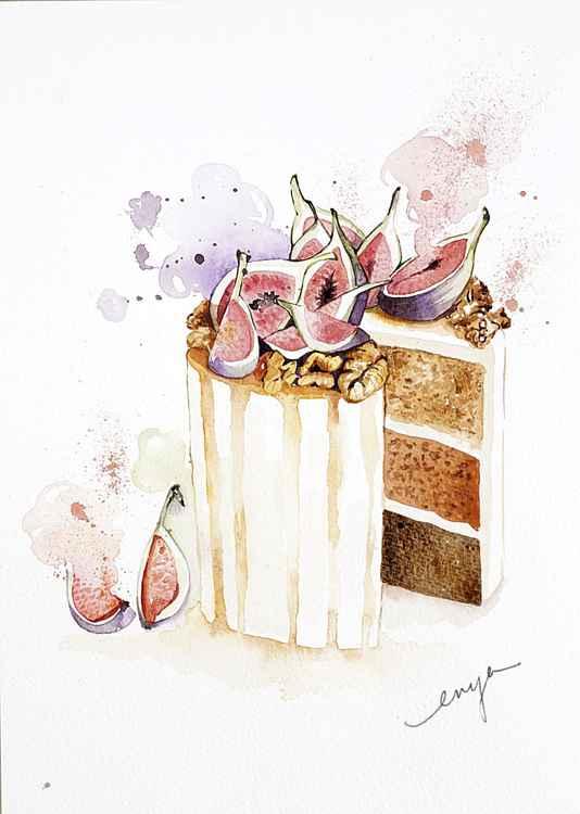 Figs cake