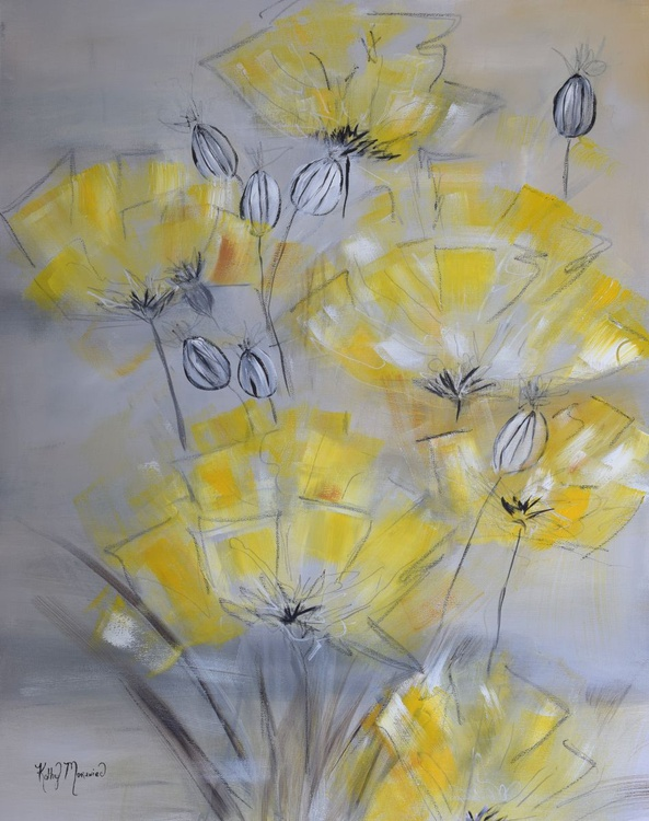 Yellow and Gray Floral - Image 0