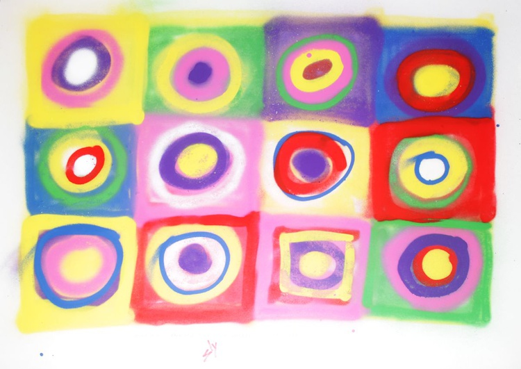 Other people's paintings only much cheaper: No.8 Kandinsky (On plain paper) - Image 0