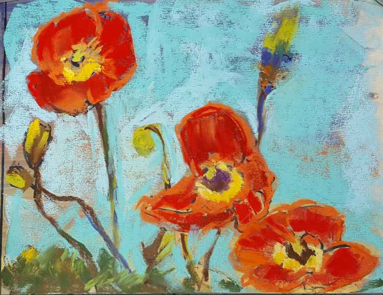 Three ladies in red (aka red poppies) -