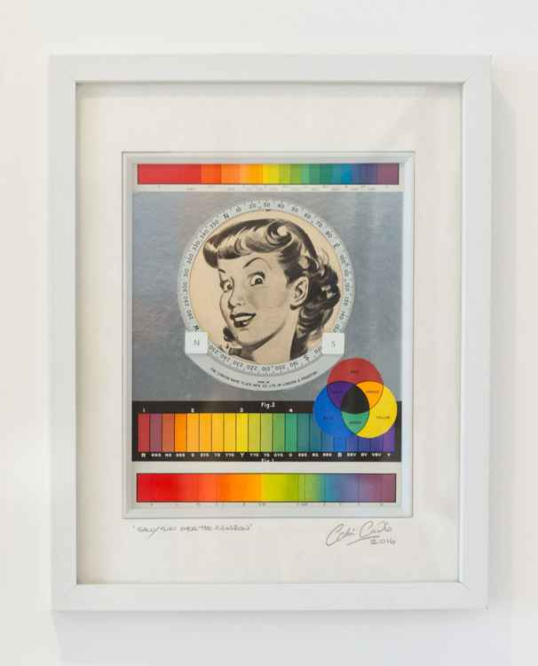 'Sally Flies Over The Rainbow' (Framed)
