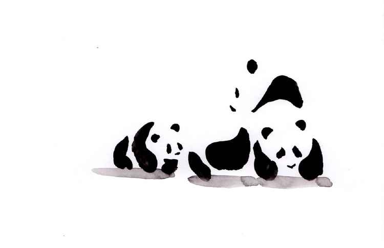 Two pandas and a cub 1521B