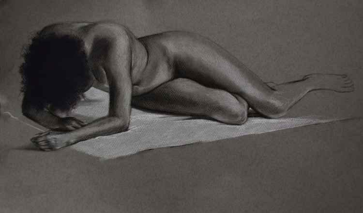 Reclining Nude in Charcoal
