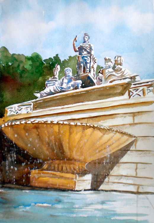 Piazza del Popolo's fountain -